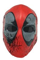Glass Fiber Resin Wire Mesh Full Protection Airsoft Cs Skull Mask Prop Halloween