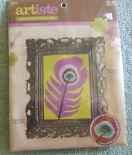 Artiste 2011 Hobby Lobby Mini Counted Cross Stitch Kit Peacock Feather 5
