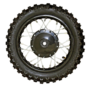 Black 2.50-10 Front Wheel Drum Chinese Pit Bike SDG SSR Coolster Lifan 50cc 70cc