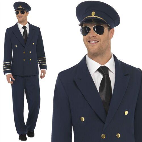 Da Uomo Costume Da Pilota Capitano Wingman Costume Uniforme Aviatore Vestito 60 S Retrò