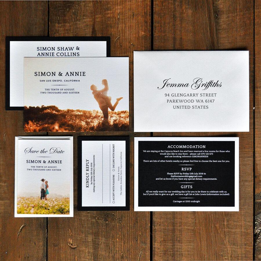 Timeless photographie mariage save the the save date ou enregistrer le soir-élégant-de luxe a9593c