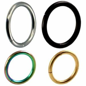 Seamless-Clicker-Body-Ring-Hinged-Segment-Earrings-Hoop-Ear-Lip-Nose-Piercing