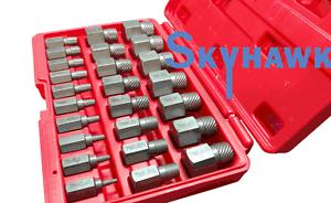 25-pc Multi-Spline Screw Extractor Set Hex Head Bit Socket Wrench Bolt Remover