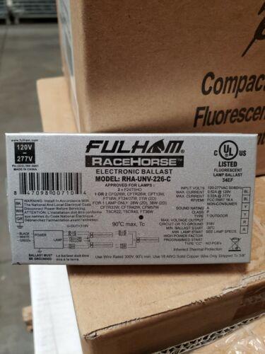FULHAM RACEHORSE RHA-UNV-226-C CFL Ballast,Electr,120 to 277V,5-1//16inL