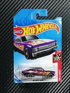 Hot Wheels 2018 68 Chevy Nova Purple Hw Flames Ebay