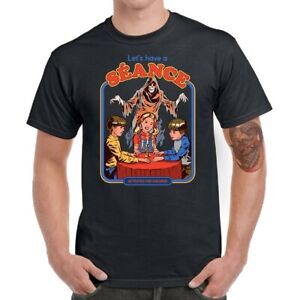 Let-039-s-Have-A-Seance-Men-T-shirt-Funny-Graphic-Shirt-Cotton-Short-Sleeve-Top-tee