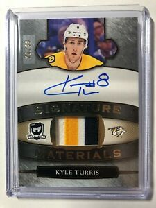 2018-19-The-Cup-Signature-Materials-Kyle-Turris-AUTO-3-Color-PATCH-99