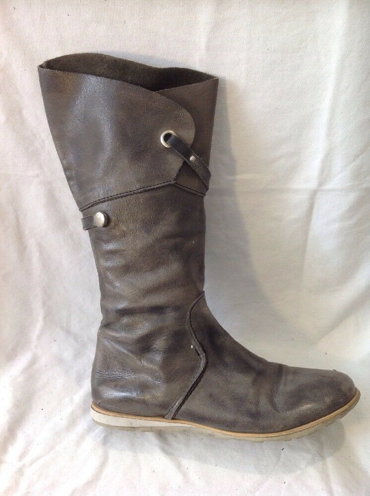 JFW Brown Mid Calf Leather Boots Size 39