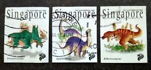 Singapore-1998-Dinosaurs-Complete-Set-3v-Used