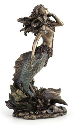 Beautiful Mermaid Rising from Sea Statue Sculpture Nautical Figurine Decoration