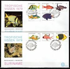 Suriname - 1979 Fish - Mi. 869-76 clean FDC's