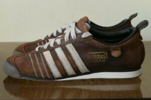 Details zu Adidas Men's Chile 62 Brown Leather Sneakers 012598 Sz 8.5