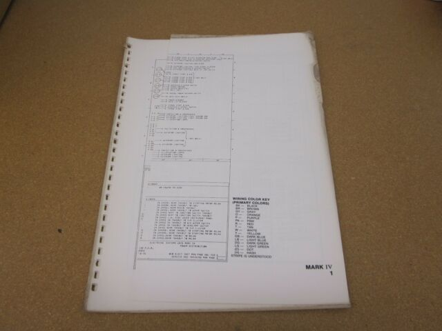 Original 1976 Lincoln Mark Iv Wiring Diagram Sheet