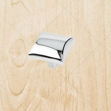 Cabinet Hardware Square Knobs kc25 Polished Chrome pull 1""