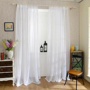 Europa Weisse Gardinen Vorhang Fenster Tull Vorhange Fur Wohnzimmer Kuche Ebay