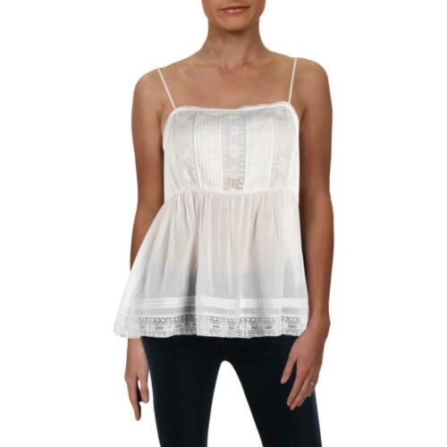 VELVET BY GRAHAM /& SPENCER Womens White Cotton Camisole Top Shirt XS BHFO 5363