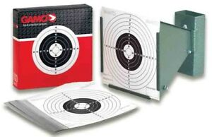 GAMO-pellet-rifle-airgun-target-holder-pellet-trap-bonus-100-5-5-inch-targets