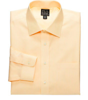 Jos A Bank 15x35 Yellow Tailored Fit Fine Line Traveler Dress Shirt $87.50 (m74)