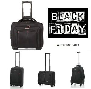 Vendredi-Noir-Vente-Cabine-Ordinateur-Portable-Trolley-Business-Exec-Bagage-Main-Sac-Noir