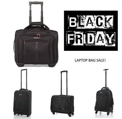 Qualificato Venerdì Nero Vendita Trolley Cabin Laptop Business Exec Bagaglio A Mano Bag Black-mostra Il Titolo Originale