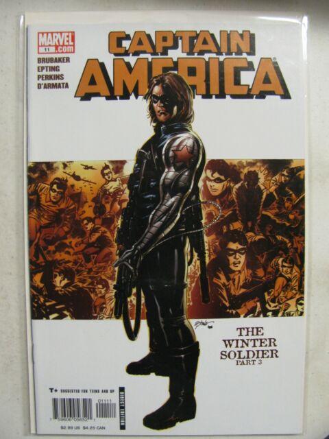 Captain America # 11 NM Origin of Winter Soldier - Falcon Winter Soldier