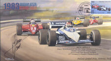 1983c BRABHAM-BMW BT52B MONZA F1 Cover signed RENE ARNOUX