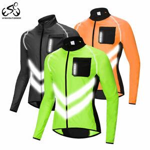 Uomo-Giacca-Ciclismo-Ultraleggera-Windstopper-riflessivo-Cappotto-Traspirante