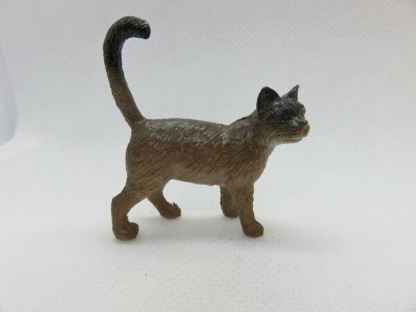 193 - Figurine Chat Type Asian Ou Autre - Marron Dégradé
