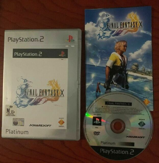 Final Fantasy X Platinum Edition Playstation 2 PS2 With Manual