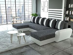 Polstermöbel mit schlaffunktion  Couch Garnitur Ecksofa Sofagarnitur Sofa PUMA Schlaffunktion ...