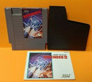 Defender-II-2-Nintendo-NES-Game-Manual-Dust-Cover-Rare-Tested-Authentic