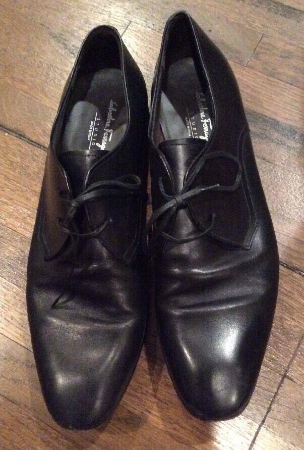 Salvatore Ferragamo schwarz Genuine Leder  schwarz Ferragamo Schuhes Sz 8 76d44f
