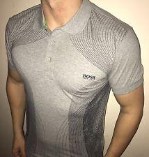 Hugo Boss Polo Top size XL Men's BNWT NEW Grey Slim Fit *green label*