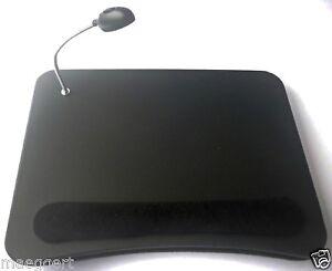 laptoptisch mit led licht laptop notebook tisch knietisch knietablett ablage neu ebay. Black Bedroom Furniture Sets. Home Design Ideas