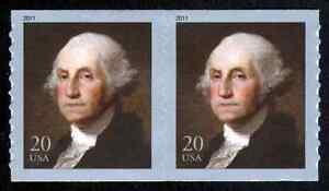 #4512 20c George Washington, Bobina Par, Nuevo Cualquier 5=