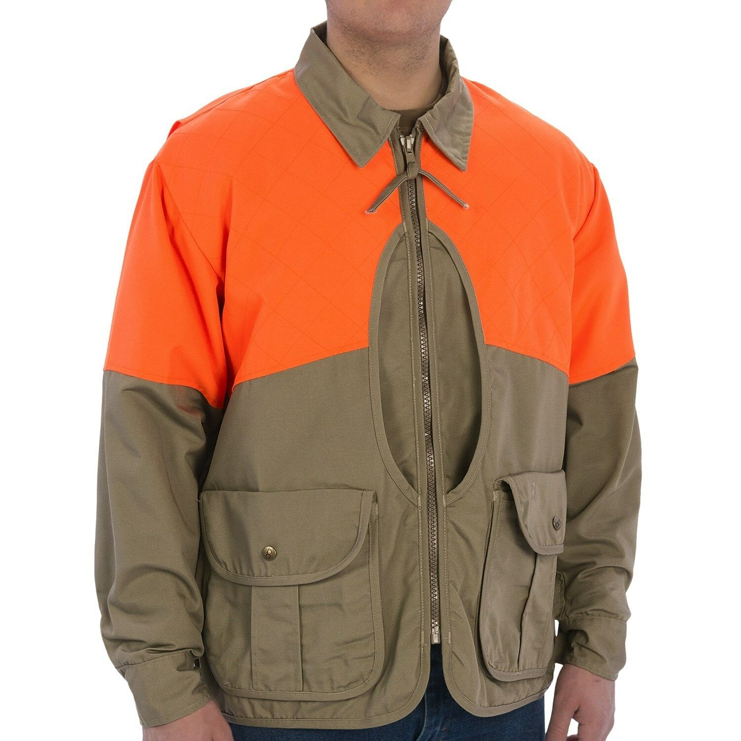 Bob Allen Allen Allen Upland Game Hunting Field Jacket Khaki Tan Blaze naranja M Chest 38-40  85fa11