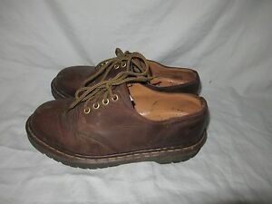 dr doc martens england brown leather 4 eye oxford casual