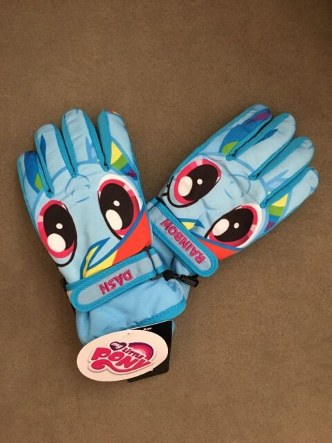 3M THINSULATE Rainbow Foil Peace Sign Insulated Ski Gloves Girls Size 7-16  $18