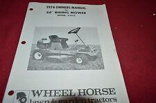"Wheel Horse 26"" 3-0113 Riding Mower Operator's Manual BVPA"