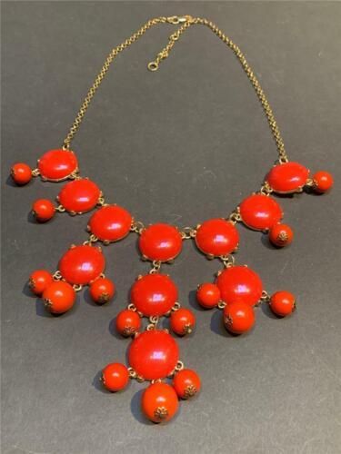 Vintage 1950's Huge Red Lucite Festoon Necklace