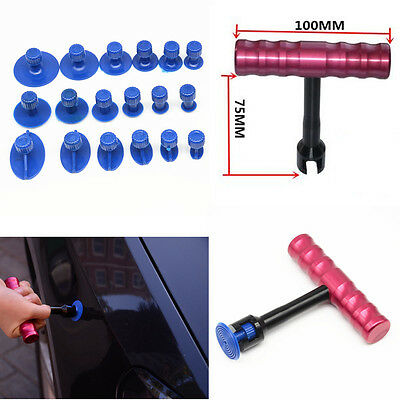 Car T-Bar Body Panel Paintless Dent Repair Removal Tools Puller Lifter 18X TABS