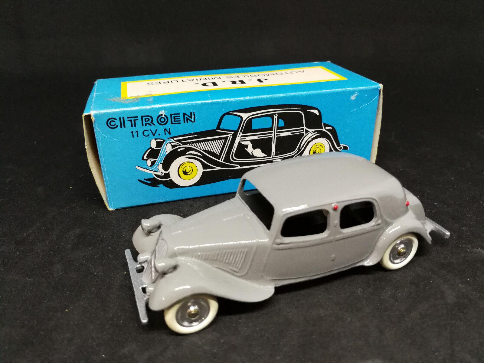 JRD (France), voiture miniature, Traction AV. 11, réédition de 1985 (avec boîte)