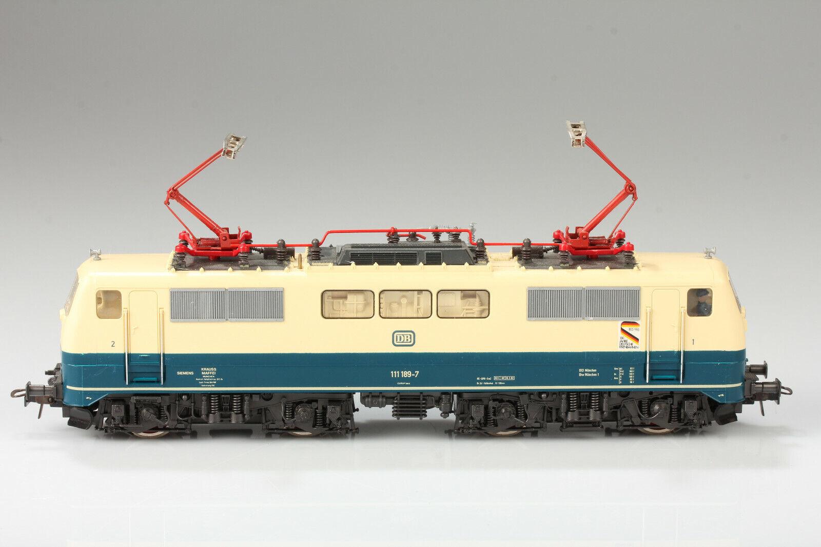 Roco h0 DB br 111 189-7 150 años corre-luz aceptar la suciedad pica deficiencias