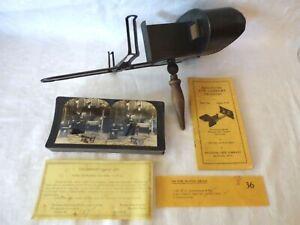 Antique Keystone Stereoscope Eye Comfort Training w/Depth Perception Cards