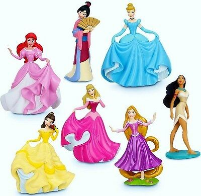 DISNEY PRINCESS Figure Set PVC TOY Cake Topper RAPUNZEL Mulan POCAHONTAS Belle!