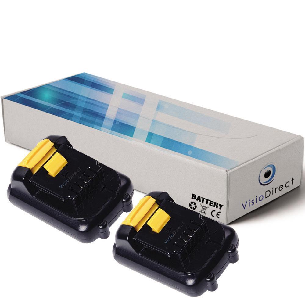 Lot de 2 batteries 10.8V 1500mAh pour Dewalt DWMTCIR20 - Société Française -