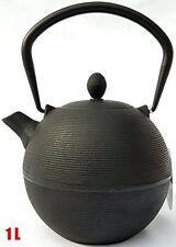 Tetsubin Japanese style Cast Iron black hobnail teapot kettle 1 L kettle with