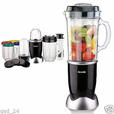 21PC BLENDER CHOPPER FOOD PROCESSOR JUICER SMOOTHIE MAKER KITCHEN MIXER - SILVER