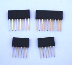 Arduino-Stackable-Pin-Header-Sockets-2x-6-1x-8-1x-10-ways-Various-Packs
