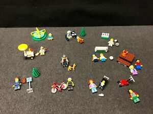 minifigure only #60134 LEGO City Park Bus Stop Sign Bench Business Woman Lady